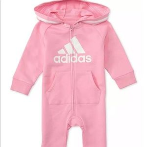 NWT Adidas baby girl Coverall terry